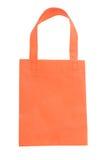 Oranje stoffenzak Stock Afbeeldingen