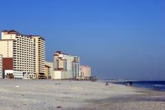 Oranje strand Stock Foto