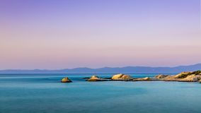 Oranje strandschemer Royalty-vrije Stock Foto's
