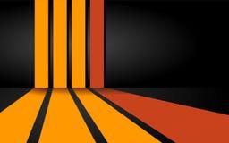 Oranje Strepenachtergrond Vector Illustratie