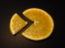 Oranje stuk stock foto