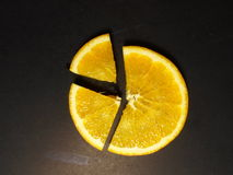 Oranje stuk stock afbeelding