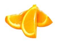 Oranje stukken Royalty-vrije Stock Afbeeldingen