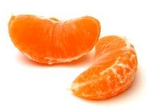 Oranje stukken Stock Fotografie