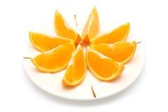 Oranje Stukken stock foto