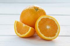 Oranje stukken Royalty-vrije Stock Foto
