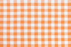 Oranje tafelkleedpatroon Royalty-vrije Stock Fotografie
