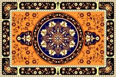 Oranje tapijt Stock Foto's