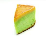 Oranje tartlet die op wit wordt geïsoleerd? Stock Foto's