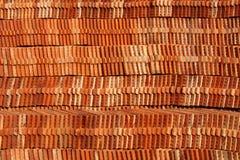 Oranje tegels Stock Fotografie