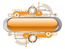Oranje tekstbanner Royalty-vrije Stock Afbeeldingen