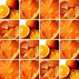 Oranje texturen binnen vierkante vormen Royalty-vrije Stock Afbeelding
