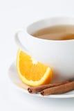Oranje thee met kaneel royalty-vrije stock afbeelding