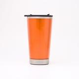 Oranje thermische mok Royalty-vrije Stock Afbeeldingen