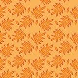 Oranje Tropisch Bladeren Naadloos Patroon Perfect Botanisch Behang vector illustratie