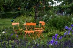 Oranje tuinreeks Stock Afbeeldingen