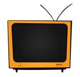 Oranje TV Stock Fotografie