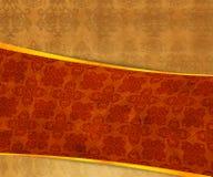 Oranje Uitstekende Exclusieve Achtergrond stock illustratie