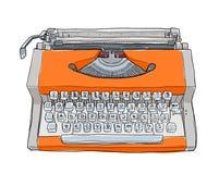 Oranje uitstekende Schrijfmachines Stock Foto