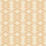 Oranje vector naadloze abstracte lijnenachtergrond voor decoratie Royalty-vrije Stock Foto's
