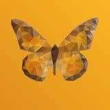 Oranje vectorvlinder in veelhoekige techniek vector illustratie