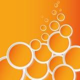 Oranje achtergrond Ñircles Stock Foto's