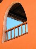 Oranje venster royalty-vrije stock afbeeldingen