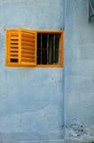 Oranje venster royalty-vrije stock foto