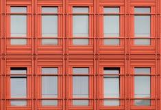 Oranje vensters Royalty-vrije Stock Foto's