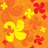 Oranje ventilatorachtergrond Stock Afbeelding