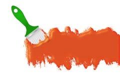 Oranje verflijn stock illustratie