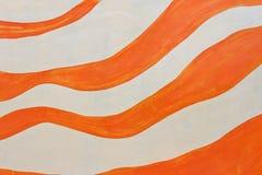 Oranje verfstrepen Royalty-vrije Stock Foto