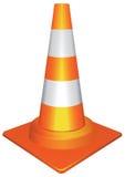 Oranje verkeerskegel Royalty-vrije Stock Afbeeldingen
