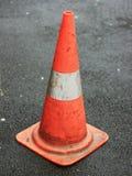 Oranje verkeerskegel Royalty-vrije Stock Foto