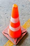 Oranje verkeerskegels Royalty-vrije Stock Afbeeldingen