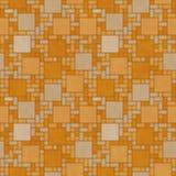 Oranje Vierkant de Tegelpatroon Repe van het Mozaïek Abstract Geometrische Ontwerp Stock Foto