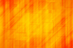 Oranje vierkante abstracte achtergrond Stock Fotografie