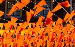 Oranje vlaggen tijdens Wereldbeker Royalty-vrije Stock Foto