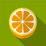 Oranje vlakke pictogramillustratie royalty-vrije illustratie