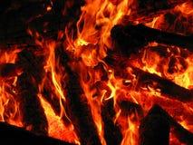 Oranje vlam Royalty-vrije Stock Afbeeldingen