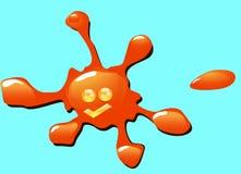 Oranje vlek Stock Foto's