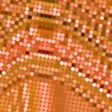 Oranje vlekpatroon Stock Foto