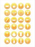 oranje voedseltekens Stock Fotografie