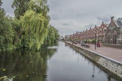 Oranje Vrijstaatkade en Amsterdam el 2018 holandés fotografía de archivo