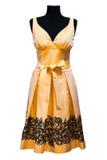Oranje vrouwelijke kleding royalty-vrije stock afbeelding