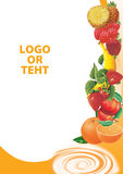 Oranje vruchten Royalty-vrije Illustratie
