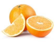 Oranje vruchten met plakken Stock Afbeelding