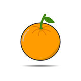 Oranje Vruchten op Witte Achtergrond Royalty-vrije Stock Afbeeldingen