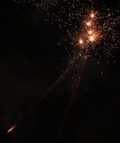 Oranje Vuurwerk Royalty-vrije Stock Foto