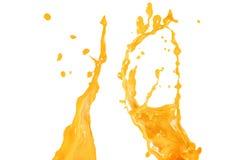 Oranje water of sapgolf abstracte achtergrond Stock Afbeeldingen